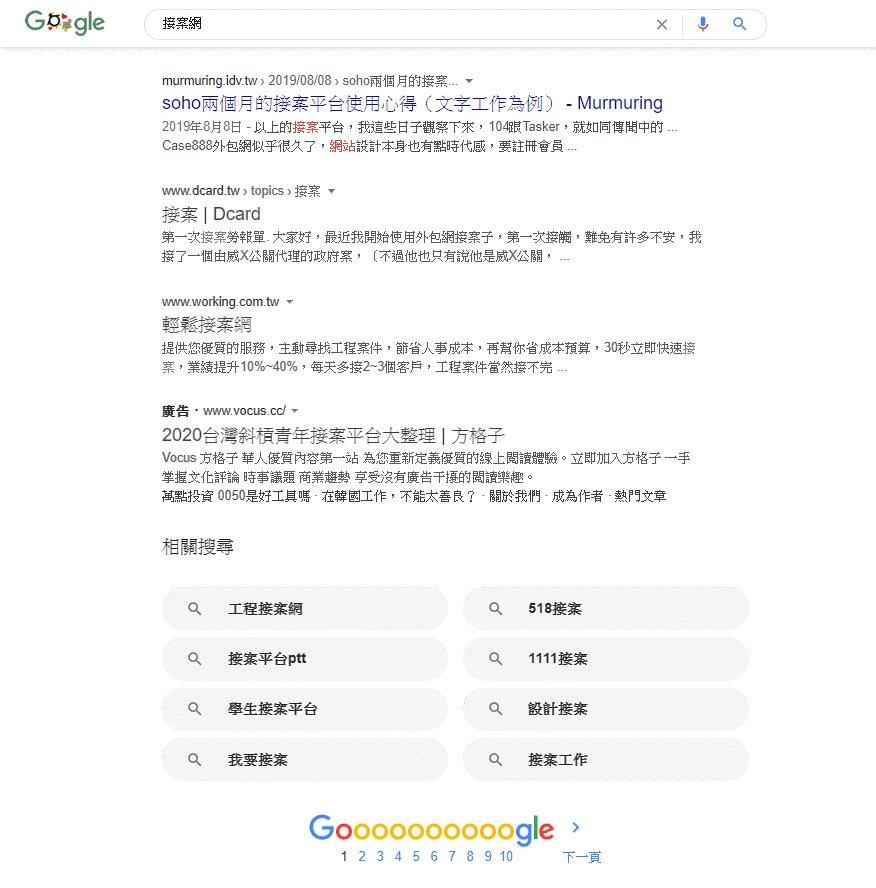 私人部落格文章出現在google首頁